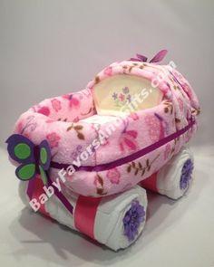 Girl Baby Shower Themes | elegant hawaiian diaper cake with pink ...