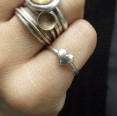 Little Handmade Heart Rings
