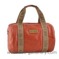 Sac polochon orange de la marque Gallantry Paris