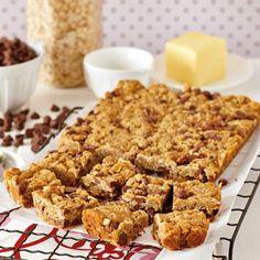 Milk Chocolate Chip ANZAC Slice   #Recipe #CadburyKitchen