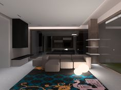 Glamorous living room maked precious by right lights from Lab4Arc team
