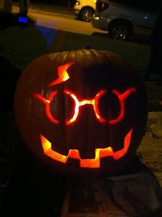 The Harry Potter Pumpkin Vicki and I carved this year @Vicki Bergs