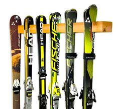 gear storage, the Cedar Ski Wall Rack is a hand-crafted rustic wall-mounted storage answer to show all of your skis! The Cedar Ski Rack has 6 slot Porch Storage, Garage Storage Shelves, Ceiling Storage, Storage Racks, Cedar Walls, Cedar Wood, Ski Rack, Ski Gear, Ski Shop