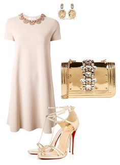 """""""Untitled #292"""" by miry-nguyen on Polyvore featuring Valentino, Christian Louboutin, Oscar de la Renta and GEDEBE"""