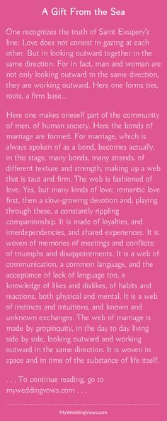 Read this beautiful vow - hearted by myweddingvows.com ♥