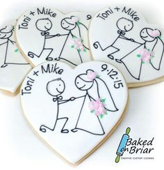 Wedding cookies by Baked on Briar