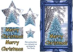 - A very pretty christmas card in blue to be different, with a blue christmas tree Blue Christmas, Christmas Cards, Merry Christmas, Christmas Decoupage, Card Making, Greeting Cards, Basket, Make It Yourself, 3d