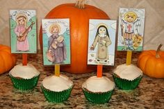 All Saints cupcakes! I want to make these with my little ones this year.
