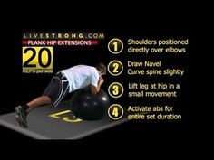 Ball plank hip extensions are a great core strengthening exercise using a swiss ball.  You must be able to perform a standard front plank correctly before attempting this exercise.  Keep the movements small.  Learn how to perform this exercise in this training video brought to you by Inflict Training.
