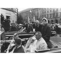 Washington, DC, Astronaut John Glenn and Mrs. Glenn with their Children Ride with Vice President Johnson in the Washington Parade