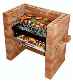 Tesco direct: Bar-Be-Quick Built In Grill & Bake Charcoal Barbecue Outdoor Oven, Outdoor Cooking, Outdoor Fire, Outdoor Projects, Home Projects, Bbq Grill, Grilling, Brick Bbq, Built In Grill