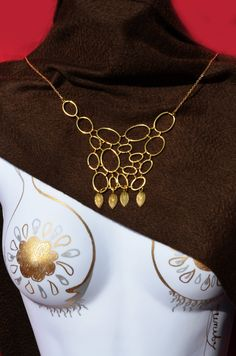 Circle Bib Necklace, Bubble Necklace Bohemian Jewelry Leaf Necklace Handmade by theELEPHANTpink on Etsy