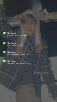 Ikon Wallpaper, Hero Wallpaper, Kpop Exo, Chanyeol, Chat Line, Instagram Bio Quotes, Exo Lockscreen, Kim Jongin, Exo Fan