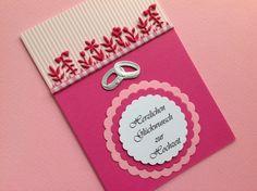 """Hochzeit - """"Blumige"""" Hochzeitskarte - ein Designerstück von MfG-KR bei DaWanda"""