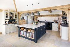 Open Plan Kitchen with Large Island - Levick Jorgensen Kitchens