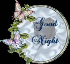 good night images | Good Night Butterfly Glitter Graphic Scraps « E-Greetings And ...