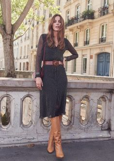 20 Cute And Cheap Fall Dresses Fall Fashion Outfits, Women's Fashion Dresses, Look Fashion, Stylish Outfits, Dress Outfits, Autumn Fashion, Fashion Beauty, Work Outfits, Older Women Fashion