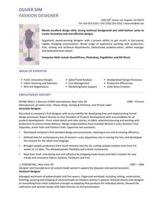 fashion designer page1 - Fashion Resume Templates