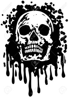 Abstract Vector Illustration Skull With Grunge Texture Royalty Free Cliparts, Vectors, And Stock Illustration. Image 37939124.