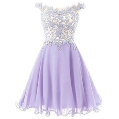 Endofjune Women's Straps Lace Bodice Short Prom Gown Homecoming Party (390 BRL) ❤ liked on Polyvore featuring dresses, purple dress, night out dresses, lace prom dresses, lace party dresses and short homecoming dresses