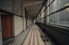 The abandoned buildings of Université du Val Benoît in Liege, Belgium, have been a mecca for urban explorers since being abandoned in 2005