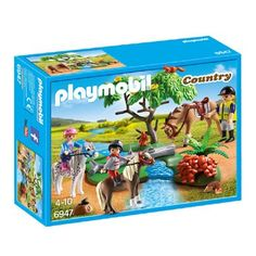 PLAYMOBIL Country ponyrijles 6947  Deze leuke Playmobil Country ponyrijlesset bestaat uit 3 figuren en 8 dieren. Zadel de pony's en ga mee op ponyrijles in de natuur. PLAYMOBIL-nr. 6947  EUR 18.99  Meer informatie