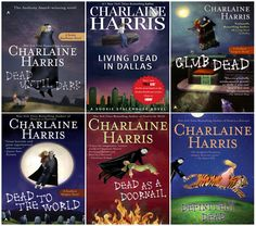 The books the TV series True Blood is modeled after. Who would have thought vampire books could be so funny? // Charlaine Harris's Sookie Stackhouse series (Books 1-6)