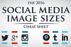 Who doesn't love a cheat sheet? Make sure to pin this social media size guide for 2016 from @prdailycom!