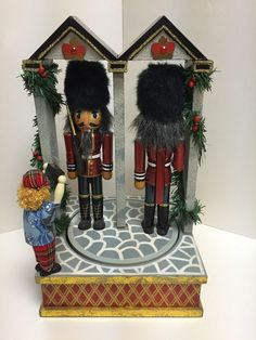 British Beefeater Soldier Nutcrackers That March Around on A Musical Base   eBay