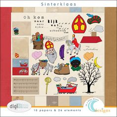 digital scrapbook kit about sinterklaas | halloween and thanksgiving is all very well, but Sinterklaas is what us dutchies need. perfect!!!