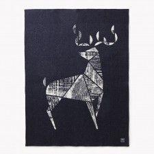 Deer Jacquard Wool Throw