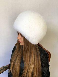 d23bb0a0447 Polar Fox Fur Hat Saga Furs Pure White All Fur Hat