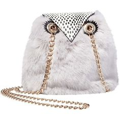 KITSCH GIVE A HOOT OWL CROSSBODY ❤ liked on Polyvore featuring bags, handbags, shoulder bags, cross-body handbag, white handbag, white crossbody, white cross body handbags and owl purse