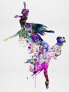 Ballet Watercolor 3B Poster Print by Irina March Dance Art Modern Pop Ballet Performing Arts
