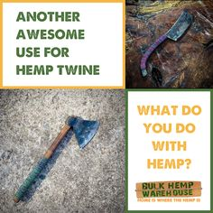 Check this awesome use for #hemptwine by @lucky7_forge #industrialhemp #hempfibers Warehouse Home, Twine, Hemp, Awesome