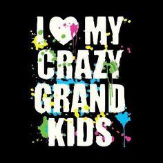 I Love My Crazy Grandkids Item# G010 by Mychristianshirts on Etsy