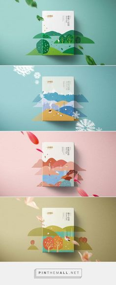 not too bad of an illustration idea. maybe the landscapes would be all in one color tone. So all pink for the pink sunscreen tint. Maybe too similar to 31 Degrees. Web Design, Label Design, Flat Design, Layout Design, Print Design, Branding Design, Packaging Design Inspiration, Graphic Design Inspiration, Book Cover Design