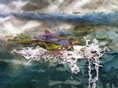 WIP - Laura Edgar #textile art #hand embroidery
