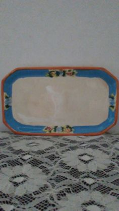 Old Made in Japan flowered 9 inch pottery serving or display tray