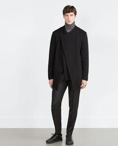 ZARA - SALE - COAT WITH A POINTED HEM