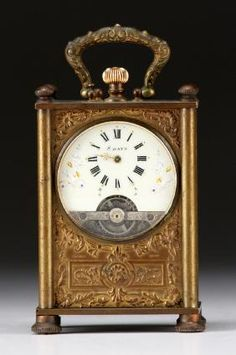 French Frainier Depose Miniature Carriage Clock
