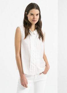 Blouse à pois avec patte - Blouses et chemises pour Femme | MANGO