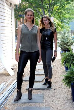 Stylish co-founders of Mind the Mat Pilates and Yoga studio in Del Ray