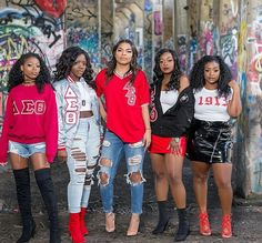 Starting out Thursday like 🔥🔥🔥! What Is A Delta, Delta Sigma Theta Apparel, Red Chucks, Delta Girl, Girls Run The World, Sorority Outfits, Sorority And Fraternity, The Ordinary, Divas