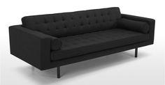 Fielding 3-seater sofa in gray Chevron | made.com