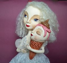 Hey, I found this really awesome Etsy listing at https://www.etsy.com/listing/220781403/ooak-art-doll-just-ice-cream