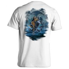 Spearo Pinup Girl spearfishing shirt is designed with comfort and style in mind. Our Spearo Pinup Girl spearfishing shirt is super soft, but durable for the scuba diving lifestyle. Here at Born of Water spearfishing apparel we stand behind our products and guarantee the quality of our Spearo Pinup Girl spearfishing shirt