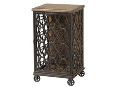 Jane Rae Wood & Metal Wine Rack, 249-075, and other Living Room Cabinets at Stein World in Memphis, TN.