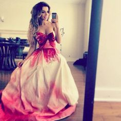 pink ombre ball gown
