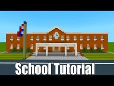 """Minecraft Tutorial: How To Make A School Part 1 City Tutorial"""", Minecraft Building Blueprints, Minecraft House Plans, Minecraft Mansion, Minecraft House Tutorials, Cute Minecraft Houses, Minecraft Room, Minecraft House Designs, Minecraft Crafts, Minecraft Furniture"""